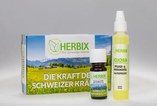 herbix set für pflege und massage